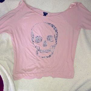 Off the shoulder Torrid skull top